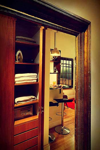 Antique Mirror With Frame Image Closet Interior