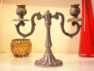 Iron Candle Holder Glass Candle Holder Red Vase