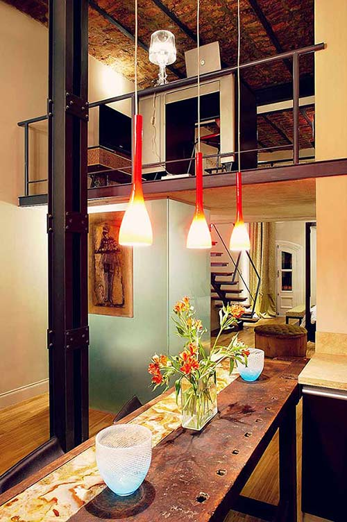 Luxury Rental Apartments Buenos Aires Bar Loft Television Glass Wardrobe Desk