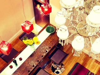 Luxury Rental Apartments Buenos Aires Dining Woden Table Chairs Chandelier Furniture