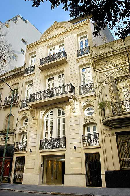 Luxury Rental Apartments Buenos Aires Fascade Day Balconies Main Door Heritage