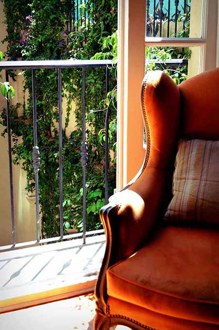 Luxury Rental Apartments Buenos Aires Sofa Orange Window French Balcony Day