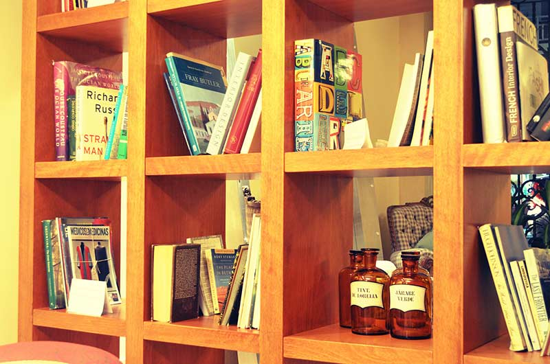 Wood Shelf Books Old Pharmaceutical Bottles